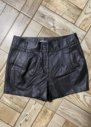 Роскошные кожаные шорты,натуральная кожа,лайка bruuns bazaar