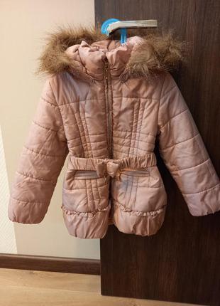 Куртка ,( пальто) теплый демисезон