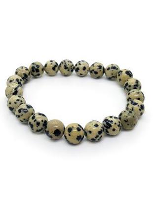 🐕🍂 браслет резинка натуральный камень далматиновая яшма