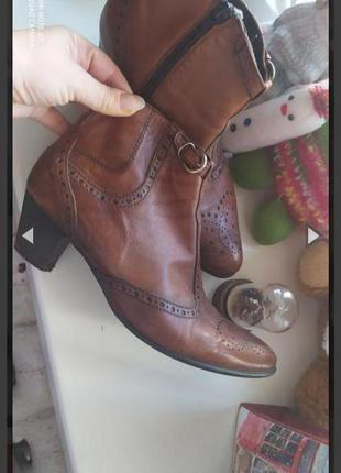 Кожаные ботинки козаки италия 39 размер