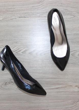 37,5 24см marks&spencer лакированные туфли лодочки