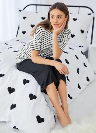 Пижама, костюм для дома, футболка и кюлоты, s, m, esmara, германия