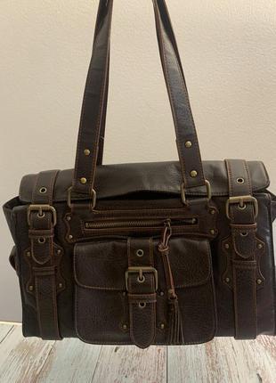 Кожаная сумка esprit германия