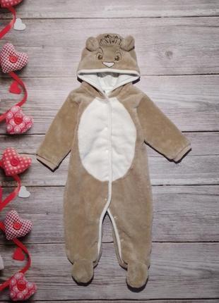 Плюшевый симпатичный человечек комбинезон disney на ребёночка 3-6 месяцев