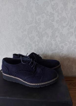 Туфли туфельки оксфорды замш