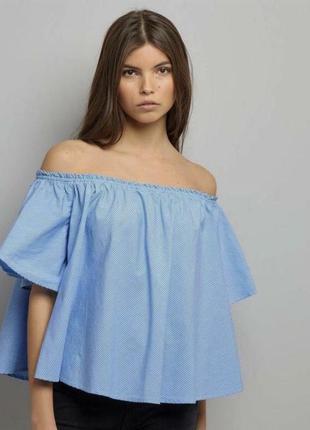 Свободная блуза с открытыми плечами / топ
