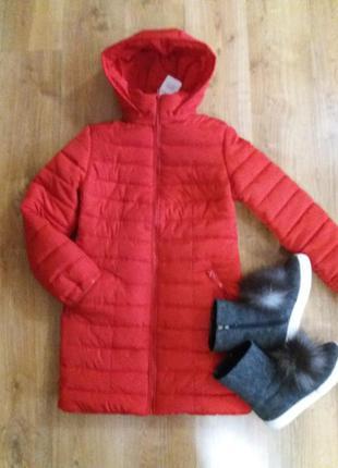 Суперлегкое, супертеплое пальто-куртка 38/м