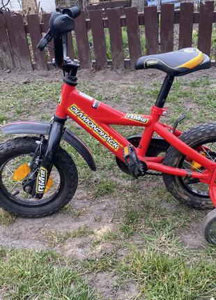 Велосипед красный 12 дюймов