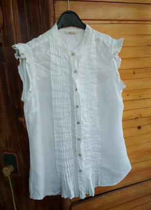Блузка сорочка massimo dutti льон