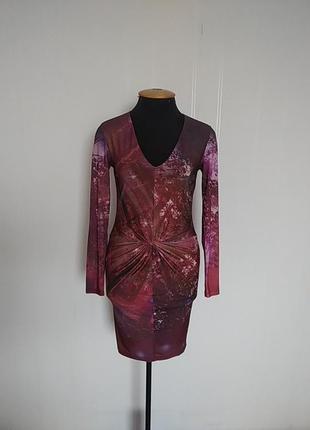 Трикотажное платье с длинным рукавом ted baker