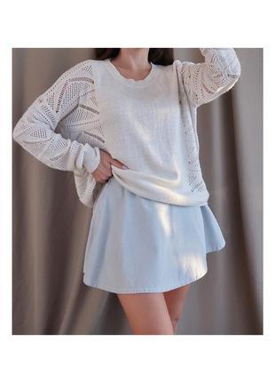 Шерстяной свитер оверсайз  color block