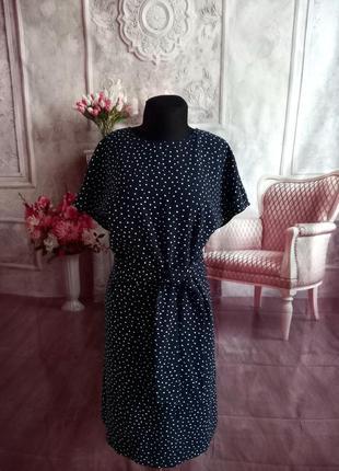 Мега стильное платье миди горох