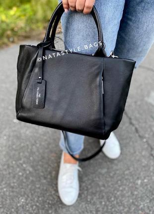 Вместительная женская кожаная сумка. polina&eiterou.