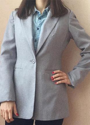 Серый пиджак oodji