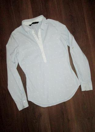 Блузка на девушку с якорьками. пог 41 см. xs. zara basic