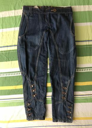 Капри галифе джинсовые