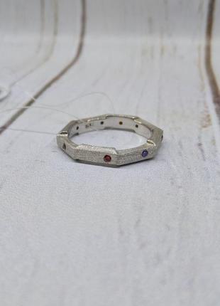 Кольцо серебро 925 дорожка