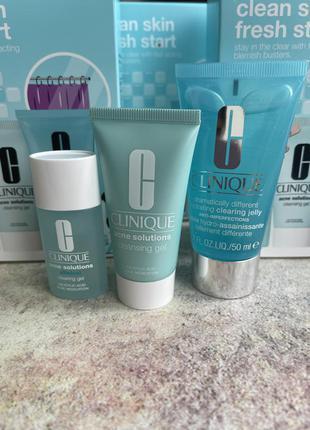 Набор для проблемной кожи и кожи с акне clinique clean skin