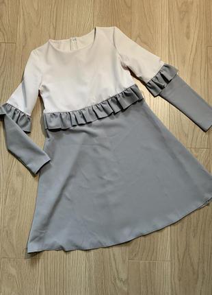 1➕1=3🛍 платье бело-серое