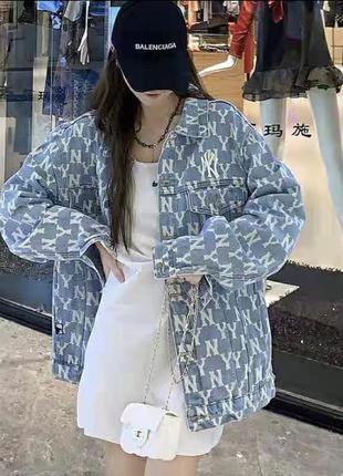 Джинсовая рубашка куртка new york