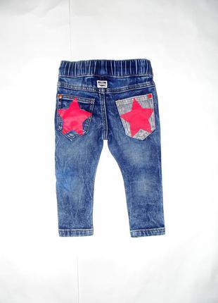 Стильные джинсы со звездами next, будут на 6-18 мес