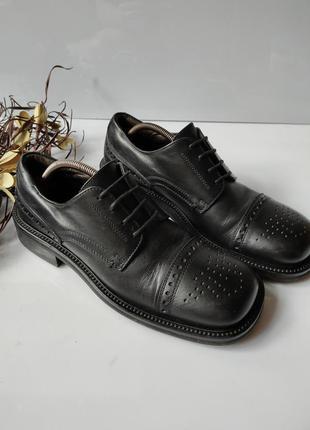 Туфли итальянские  броги кожаные hugo boos