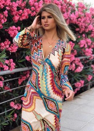 Пляжное длинное летнее платье, роскошное с разрезами