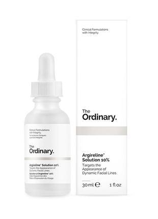 Легкая сыворотка с 10% пептидным комплексом the ordinary argireline solution 10%, 30 мл