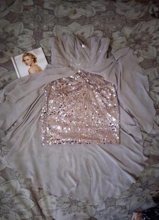 Распродажа! платье бюстье в пайетки lipsy