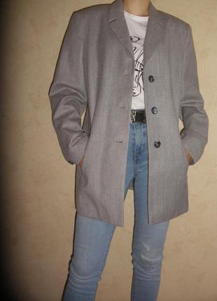 Шикарный классический жакет пиджак тонкой шерсти