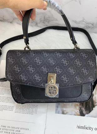Жіноча шкіряна сумка крос-боді з зручною ручкою і наплечним ремінцем