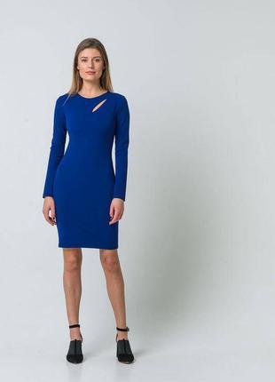 Синее платье электрик облегающее vovk. размер xs