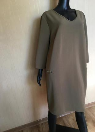 Стильное платье  из фактурной ткани с карманами body flirt