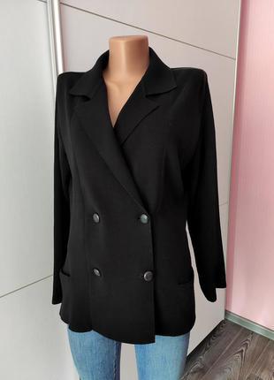 Пиджак жакет черный 💯 коттон lacoste l  с именными пуговицами винтаж