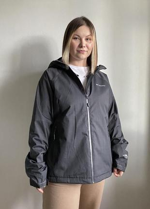 Серая осенняя куртка columbia