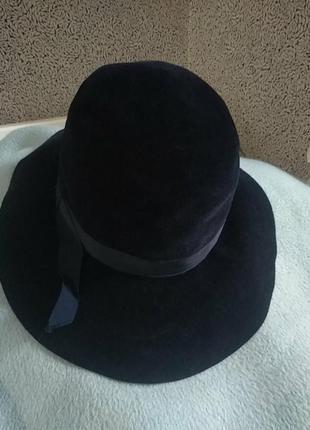 Шикарная велюровая шляпа винтаж