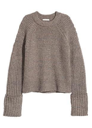 Джемпер, свитер меланж h&m / s / в составе шерсть