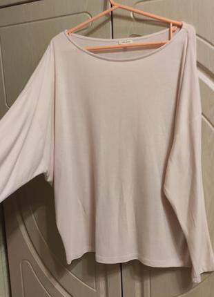 Женский свитер бледно розовый р.54