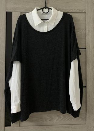2в1 жилетка рубашка кофта