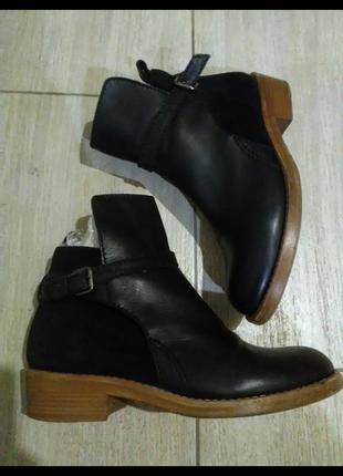 Ботинки кожа кожаные челси козаки козачки казаки ковбойки ковбойские сапоги