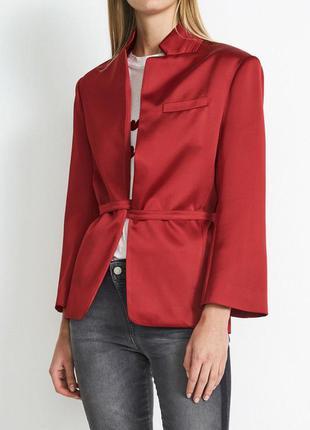 Нереально красивый блайзер пиджак красный винный