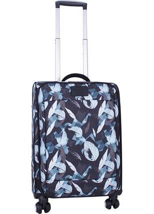 Чемодан bagland маленький средний большой ручная кладь чемодан на 4 колеса