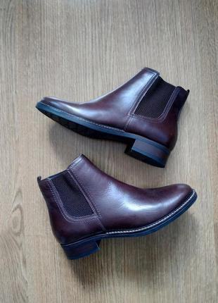 Новые осенние кожаные ботинки челси 5th avenue