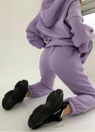 Костюм на флисе утепленный худи штаны