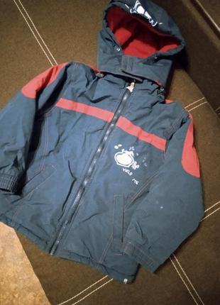 Куртка пуховик синий зима