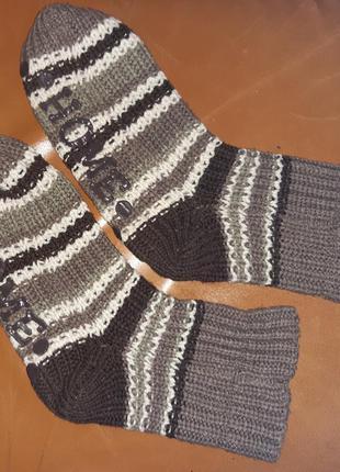 Коричневі теплі шкарпетки home
