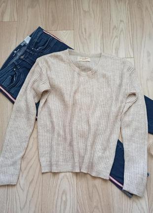 Бежевый легкий свитерок, джемпер, m-l