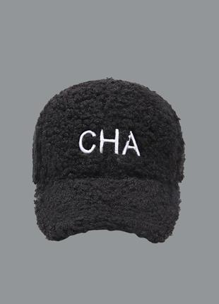 13-299 бейсболка кепка cha тедди плюшевая под шерсть ягненка