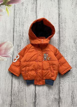 Крутая куртка бомбер с капюшоном том и джери disney 3-6мес