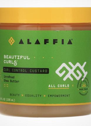 Кастард, гель для волос alaffia, гель для кудрявых волос, кастард для кудрявых волос, крем для кудрявых волос, желе